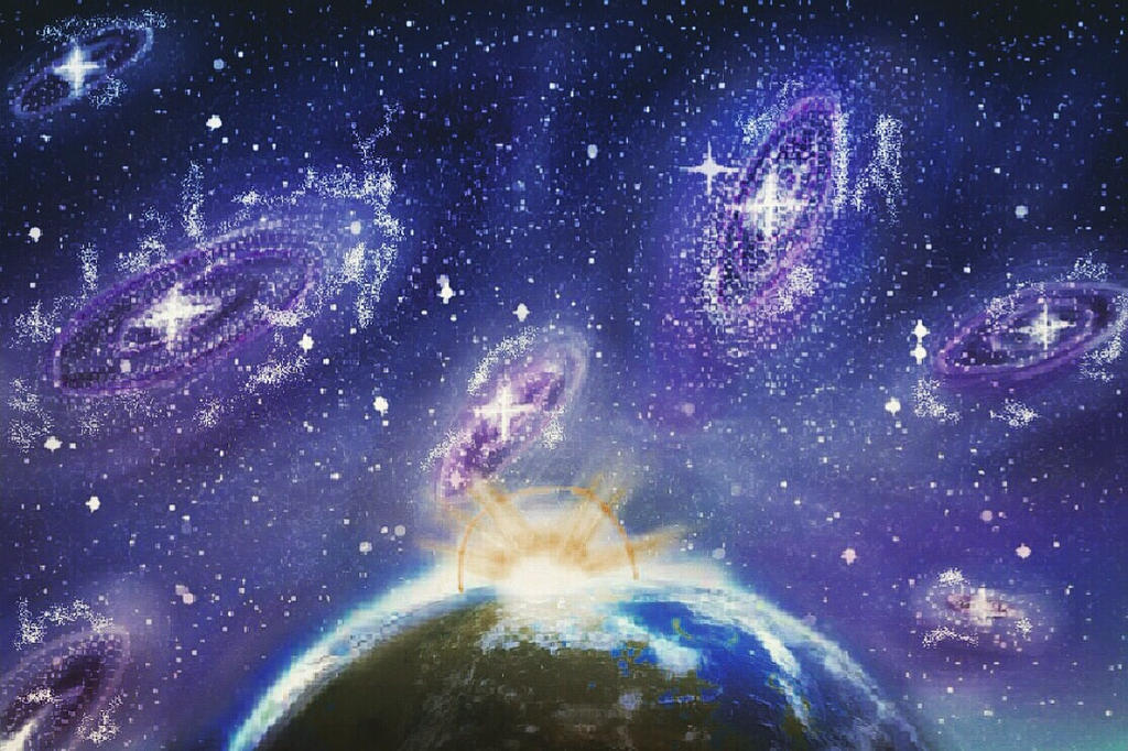 Digital art of the universe  by Eman-Afifi
