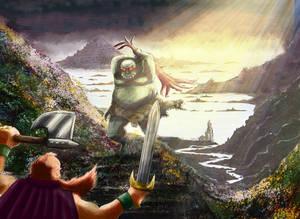 003 - Fantasy - Troll vs dwarf
