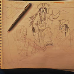 028 - Sketchs - Captain Moon and crew