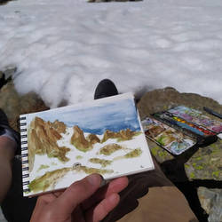 010 - Others - Watercolor in mountains..