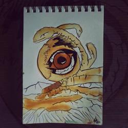 009 - Fantasy - L'oeil du dsert, speed painting