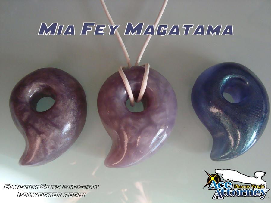Ace Attorney: Mia Fey Magatama by Elysium-Sans