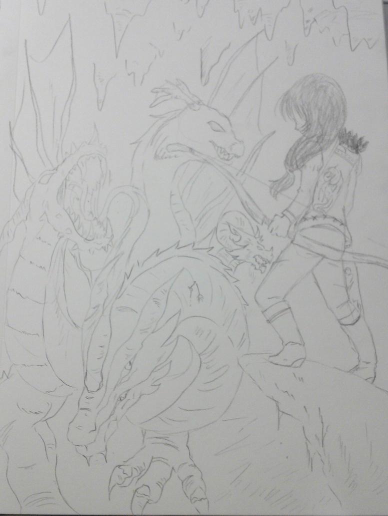 Dragon fight. by TantyoNishikigoi