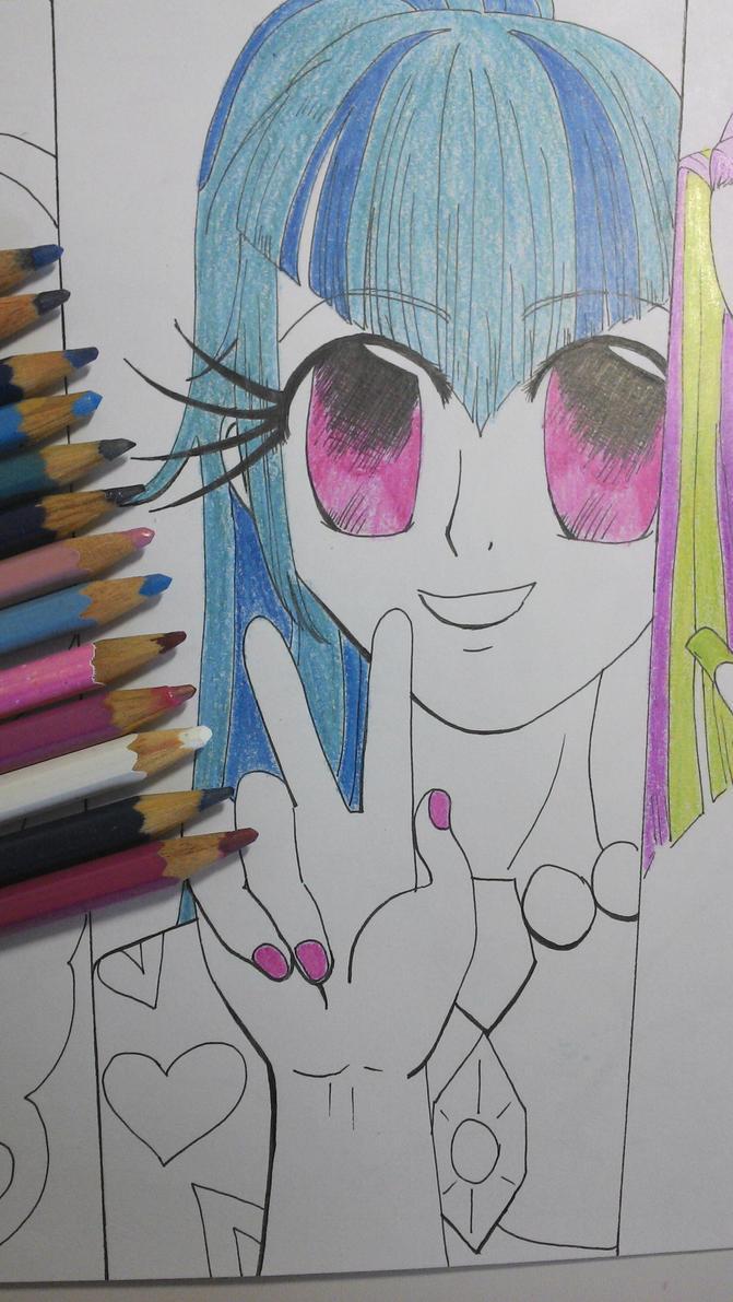 Human Sonata Dusk - Colored Eyes and Hair. by TantyoNishikigoi