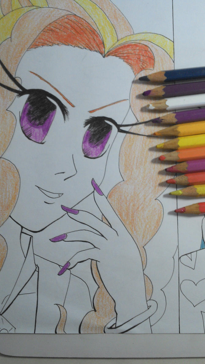 Human Adagio Dazzle Colored Eyes and Hair by TantyoNishikigoi