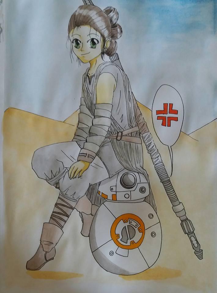 Star Wars - Rey and BB-8. by TantyoNishikigoi