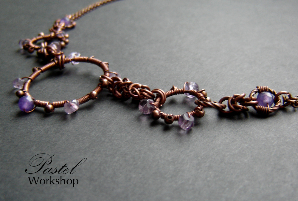 Amethyst necklace - teaser by Pastely