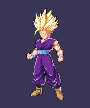 Gohan Kid Super Sayan 2 pixelart