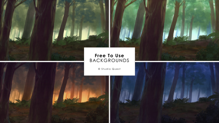 [Free To Use] Deep Forest Backgrounds by studioquesthq
