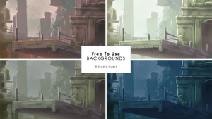 [Free To Use] Whimsical Ruins Backgrounds