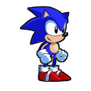 Oldschool Sonic Sprite, Take II by Logic-Monkey
