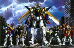Gundam Wing The Whole Grp by Anime-Guru