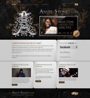 Angie Stone layout by mgportfolio