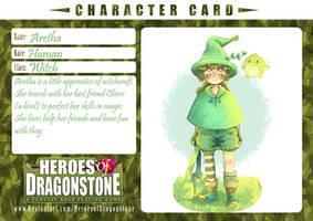 Aretha - Character card. by kawaiiinyan
