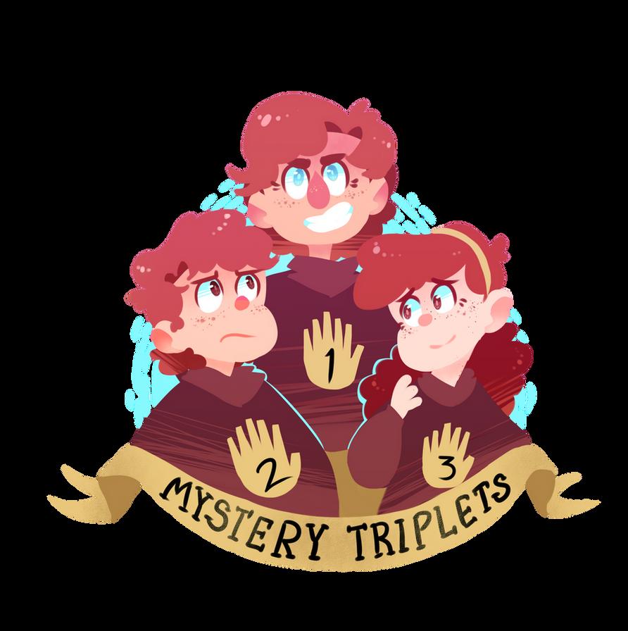 mystery triplets by PhandomMom