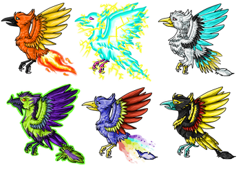 Mystery Birds - Demi Phoenixes by fumeradraycarla