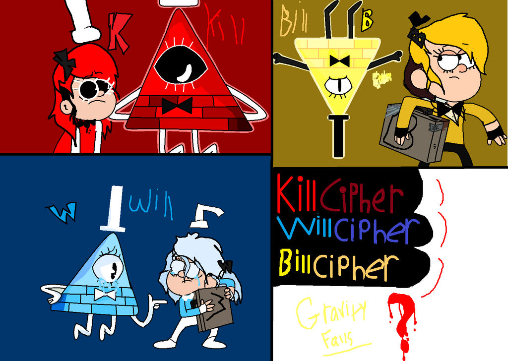 Bill Cipher, Will Cipher, and Kill Cipher by Courage-Is-Contented