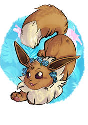 Eevee - spring time by Mashwroom