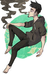 Keith - smoke Break by Mashwroom