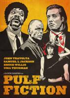 Pulp Fiction Poster by oldredjalopy