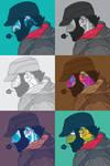 6 Self Portraits April 09'