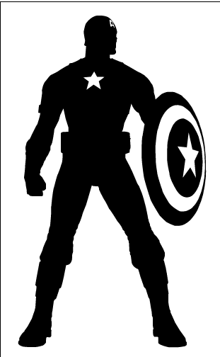 Marvel Silhouette Captain america silhouette by