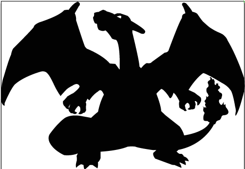 Charizard Silhouette by Baruga on DeviantArt