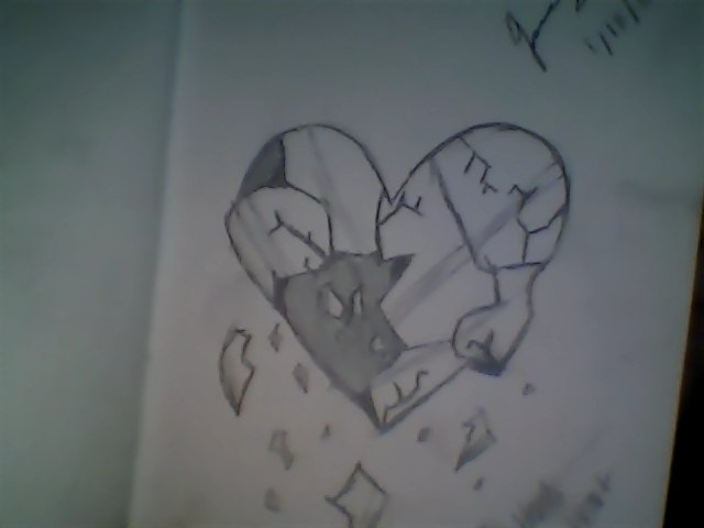 Shattered Heart Drawings Shattered heart by sasafrace