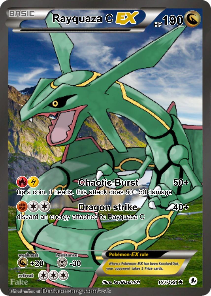 Epic Custom Pokemon Cards: Rayquaza C EX by ...