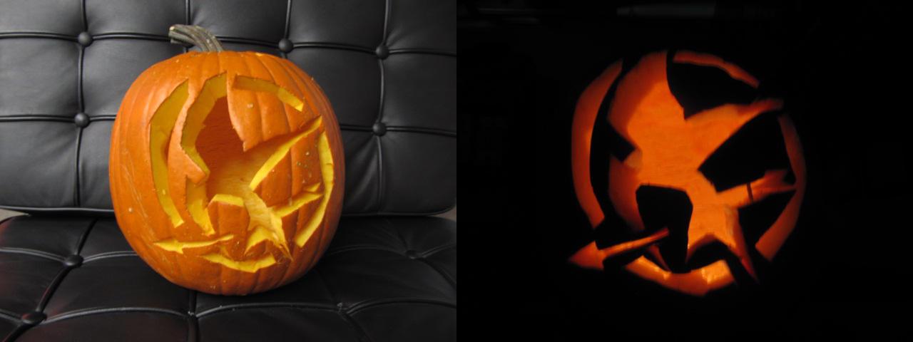 Hunger Games Pumpkin by TheLaurenVerse