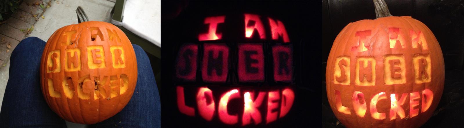 Sherlock Pumpkin by LaurenKitsune