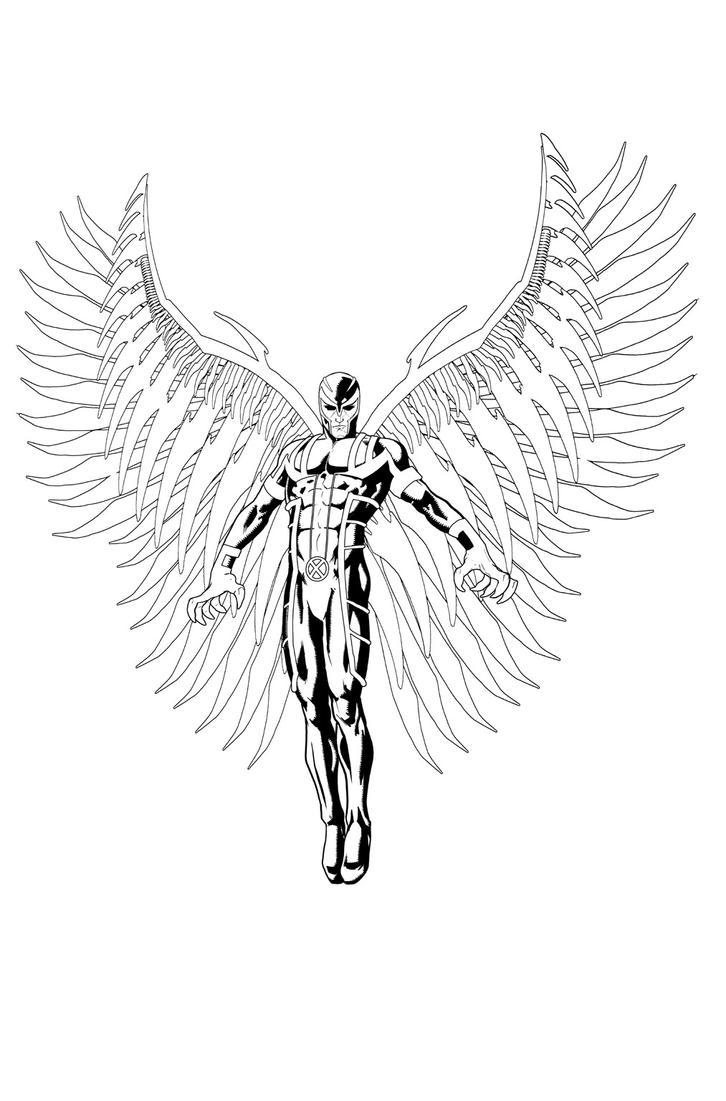 Archangel Sketch by davidmarquez on DeviantArt X Men Archangel Drawings