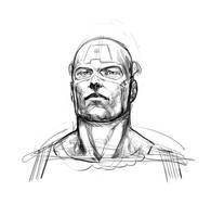 Captain America Sketch by davidmarquez