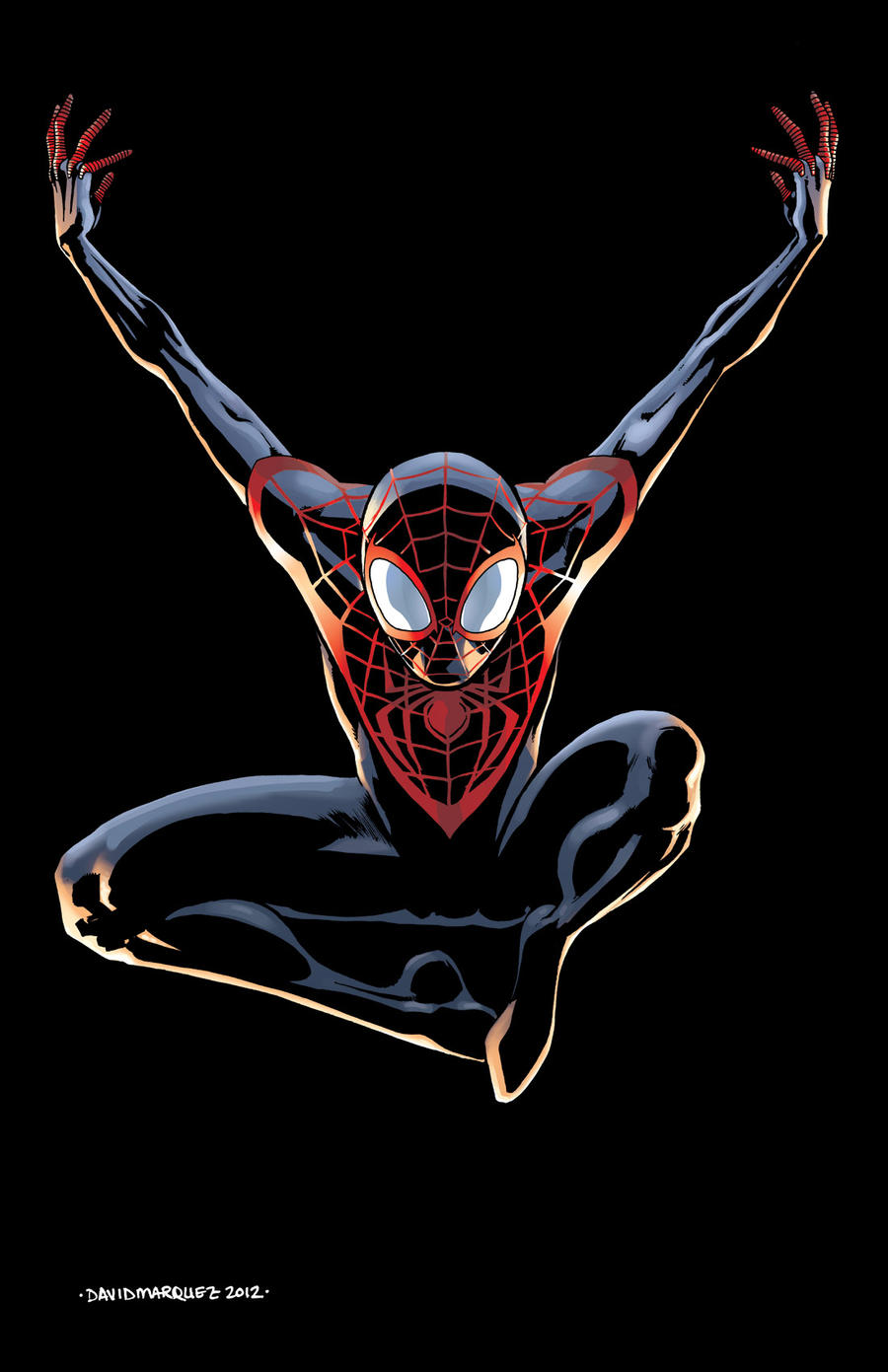 comics forever miles morales ultimate spider man artwork by. Black Bedroom Furniture Sets. Home Design Ideas