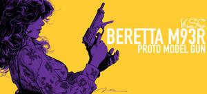 Beretta M93R BOX ART by AldgerRelpa