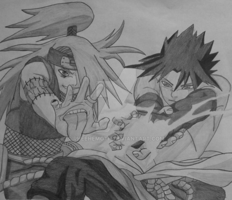 deidara vs sasuke by rheehemoth on deviantart