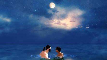 Moonlight Skinny Dip by MistressSvedka