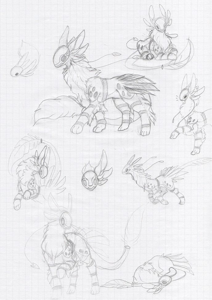 Sketch - Crested Morokae by Zyhe