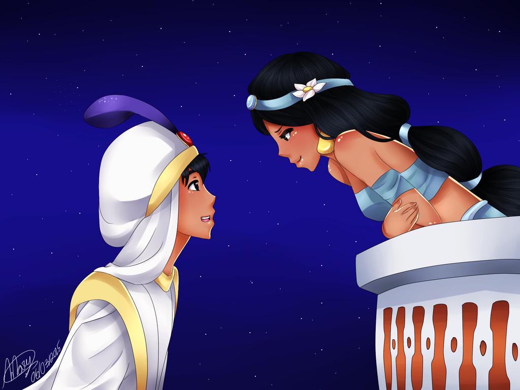 Colorea Yasmín Aladdín: A Whole New World- Alladin And Yasmin By Littlemary08 On