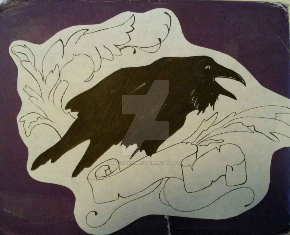 Tattoo Design Raven Chest Piece By Mothqueenart On Deviantart