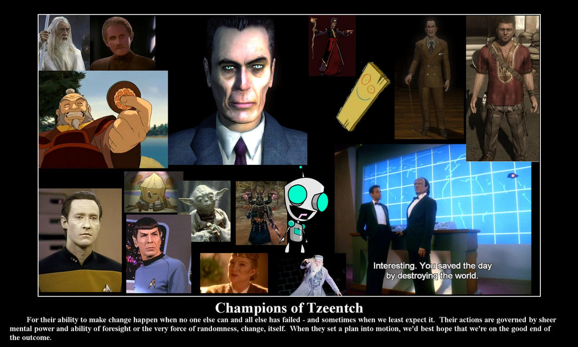 Champions of Tzeentch by Tydusis