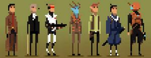 Pixel Characters001 by igorsandman
