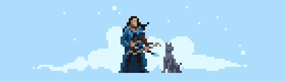 30/365 pixels : Hunter in the snow