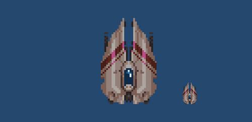 39/365 pixels : Spaceship by igorsandman