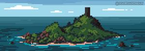243/365 pixel art : Monolith Island