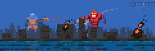 278/365 pixel art : Robot Invasion by igorsandman