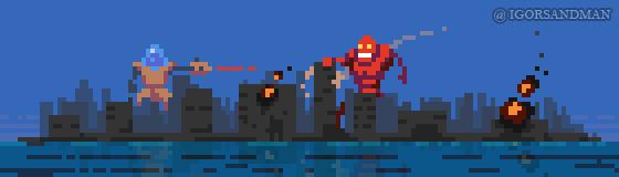 278/365 pixel art : Robot Invasion by igorsandman