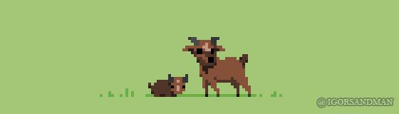287/365 pixel art : Goats by igorsandman