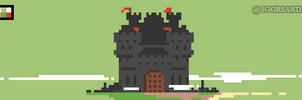 300/365 pixel art : Fortress by igorsandman