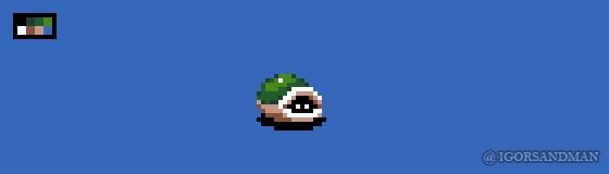 308/365 pixel art : 16x16 Turtle by igorsandman